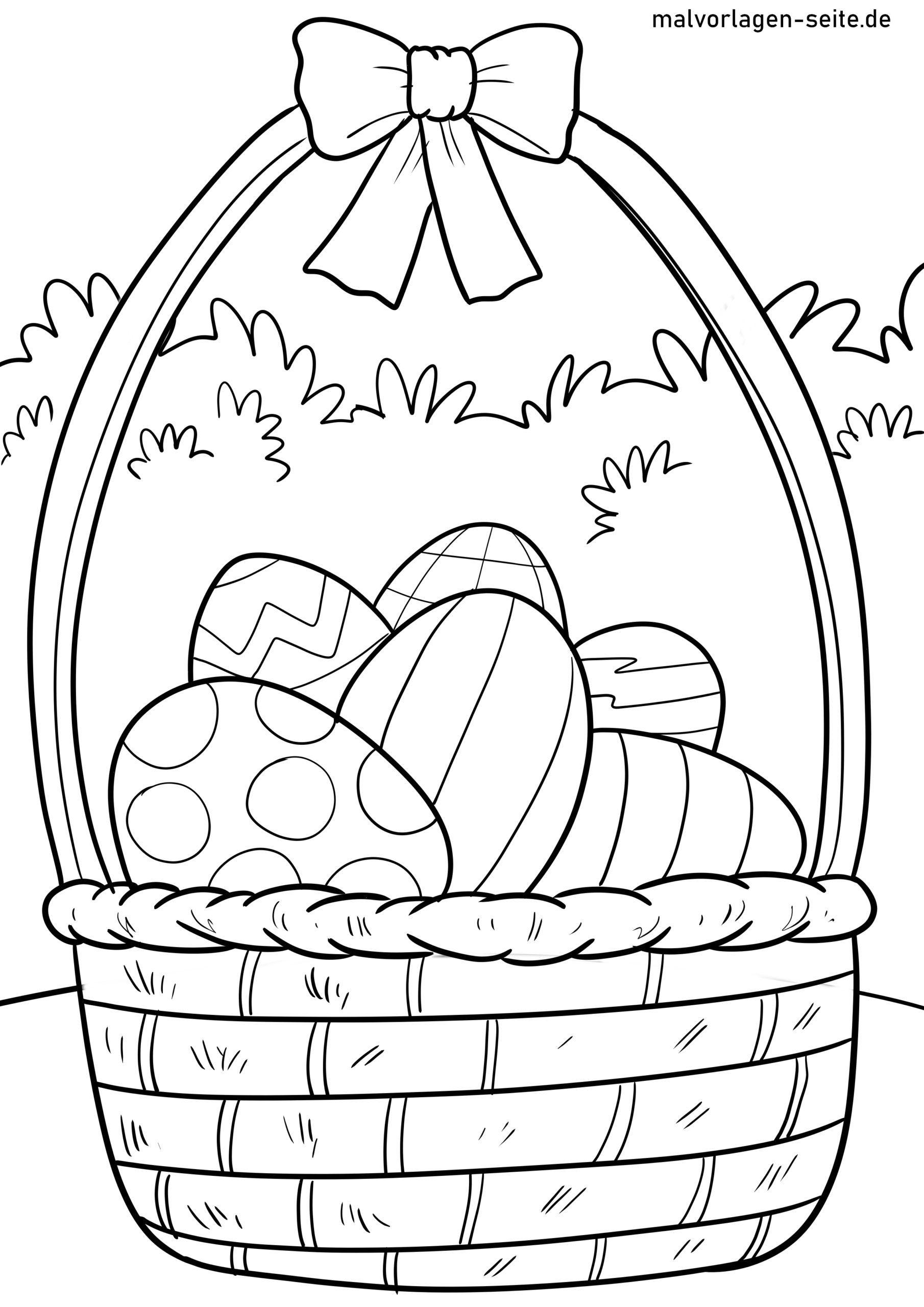 Malvorlage Ostern - Kostenlose Ausmalbilder