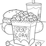 Farvelægning popcorn
