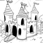 Linna väritys sivu