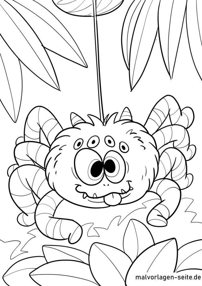 Malvorlage Spinne