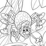 Malvorlage Spinne zum Ausmalen - Ausmalbild für Kinder