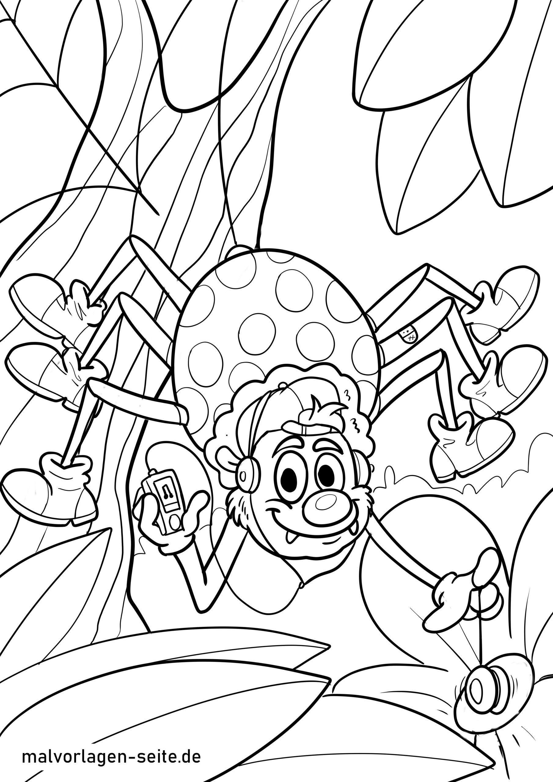 malvorlage spinne  ausmalbilder kostenlos herunterladen