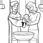 Coloring page baptism