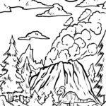 Farvelægning side vulkanudbrud farvelægning side