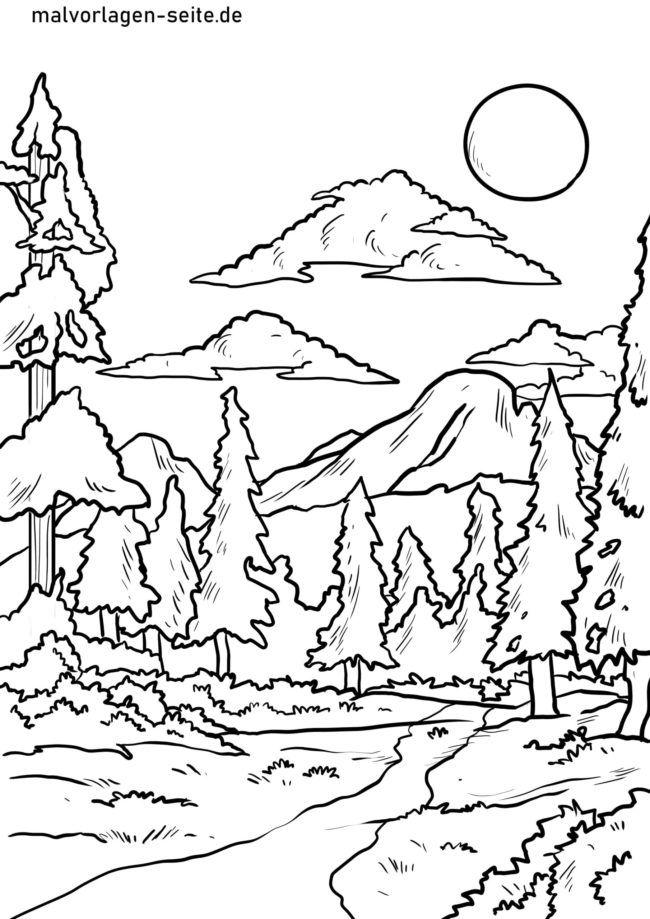 Размалёўка лесу