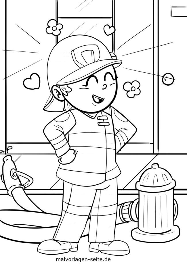 Coloring page be happy and content