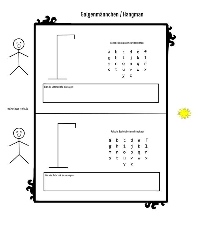 Hangman template - Hangman for free
