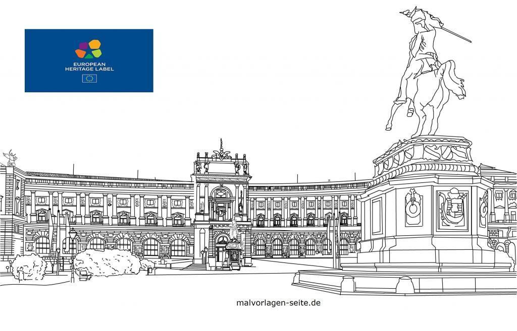 Hotunan canza launi Hofburg in Vienna,