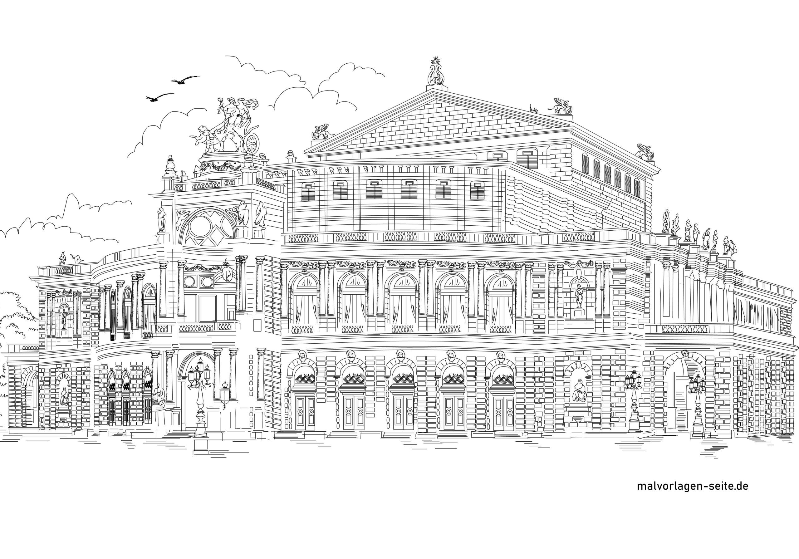 Semperoper-värityssivu, Dresden