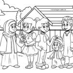 Coloring picture against racism - Muslims in the West
