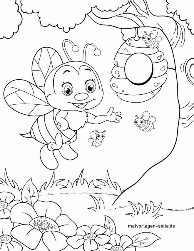 Coloriage abeilles