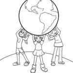 Coloring page environmental day