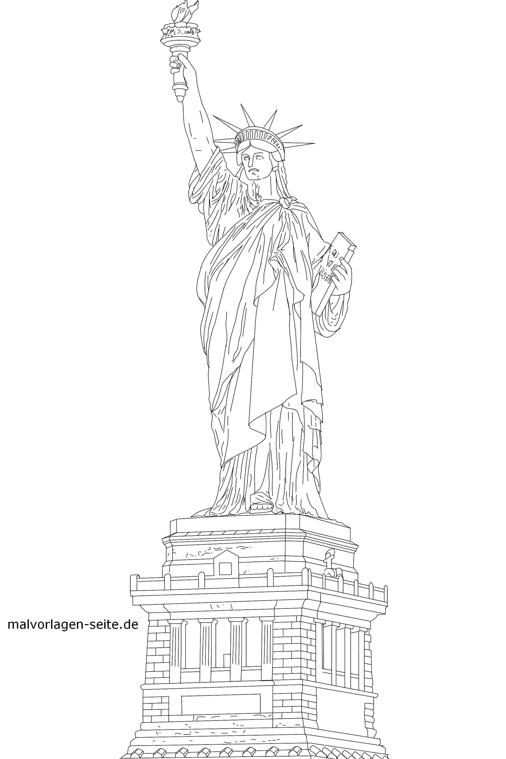 - Coloring The Statue Of Liberty, New York Coloring Page