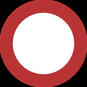 Дорожный знак запрета проезда - Бесплатные раскраски