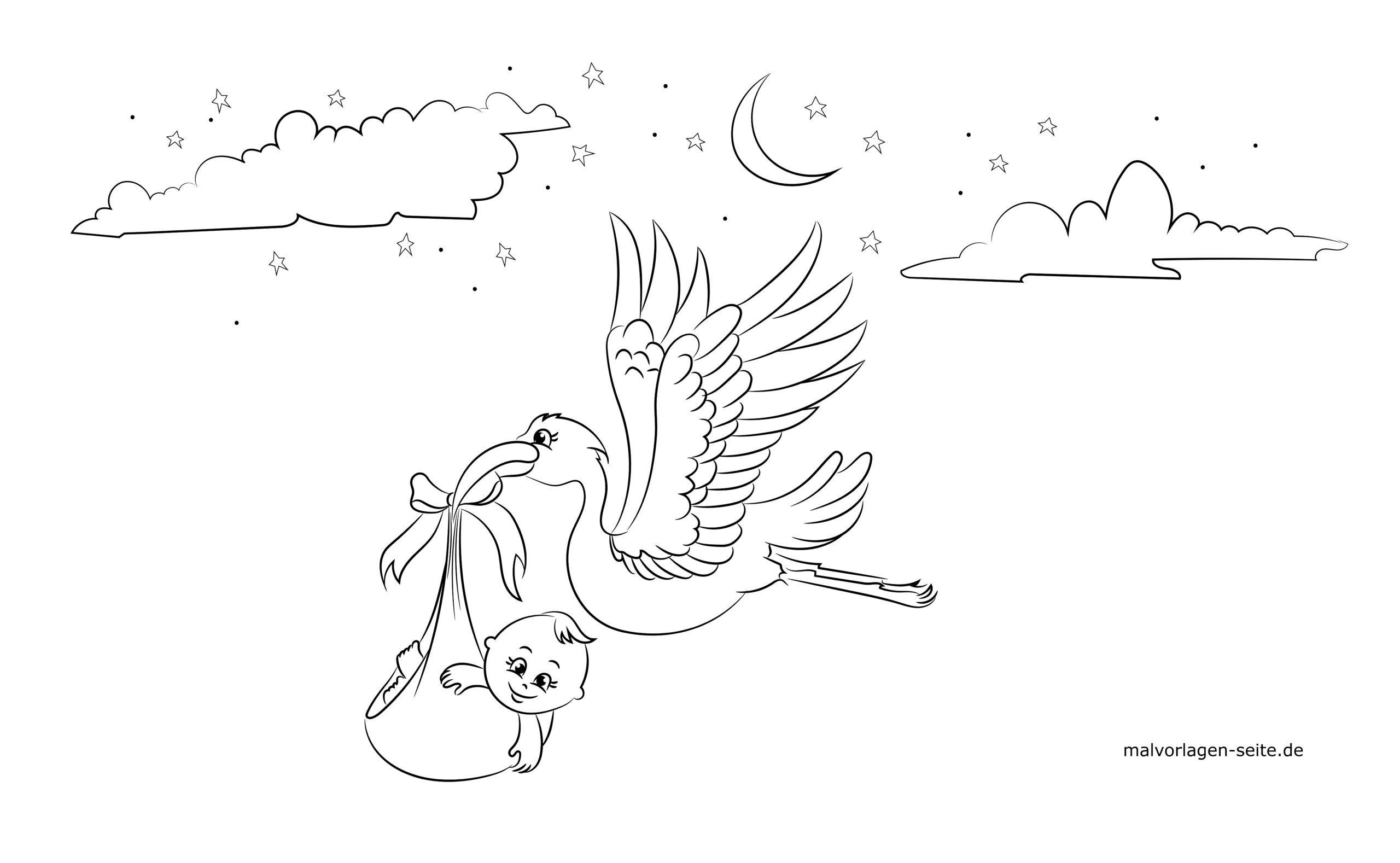 Window picture template for birth - free coloring pages