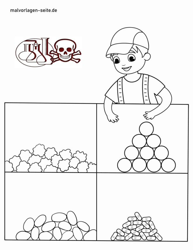 Coloring page caution toxic