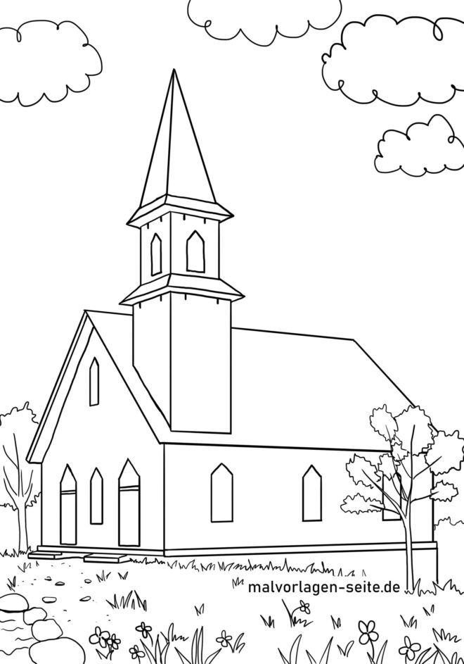 Coloriage Eglise Batiments Coloriages Gratuits