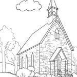 Bojanje stranice crkva | zgrada