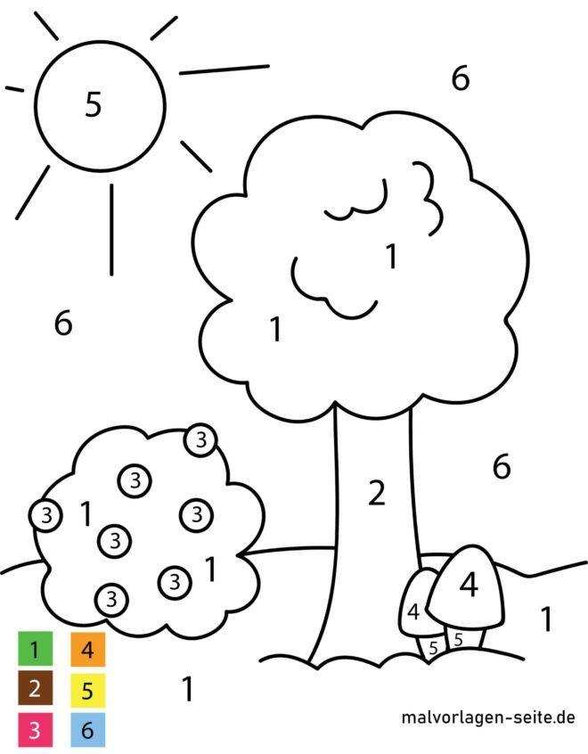 Ζωγραφική με αριθμούς - φύση