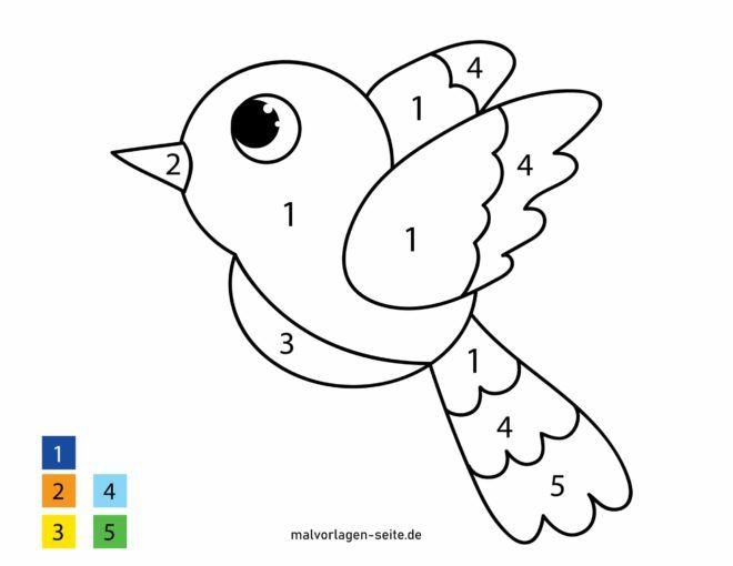 Malen nach Zahlen - Vogel