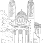 Coloring picture Cathedral of Speyer