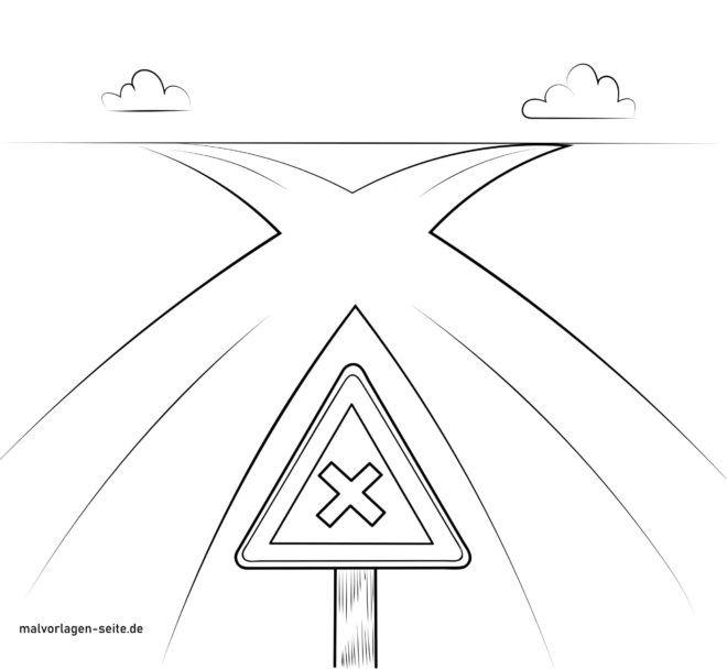 Passagem de sinal de trânsito / logo antes da esquerda