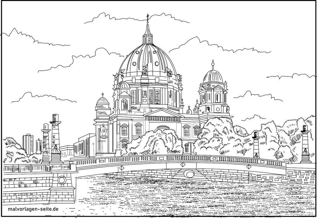 Shafin shafi na canza launi na Berlin Cathedral Jan hankali yawon bude ido