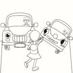 Coloring page cross street Prevention