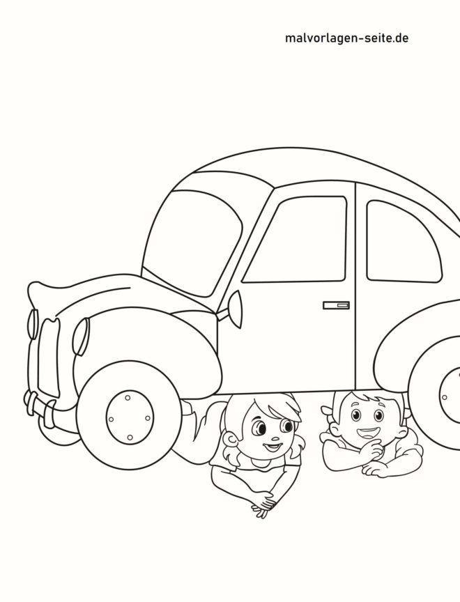 Coloriage ne joue pas entre les voitures