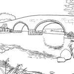 Malvorlage Brücke | Gebäude