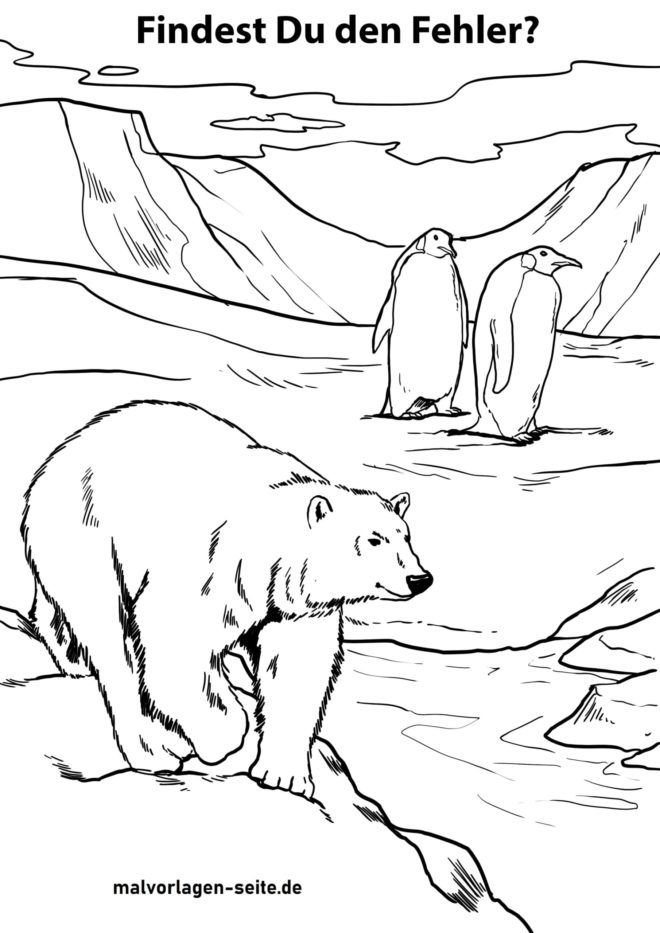 Puzzles - polar bears and penguins