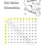 Elementary school learning arithmetic - small multiplication table