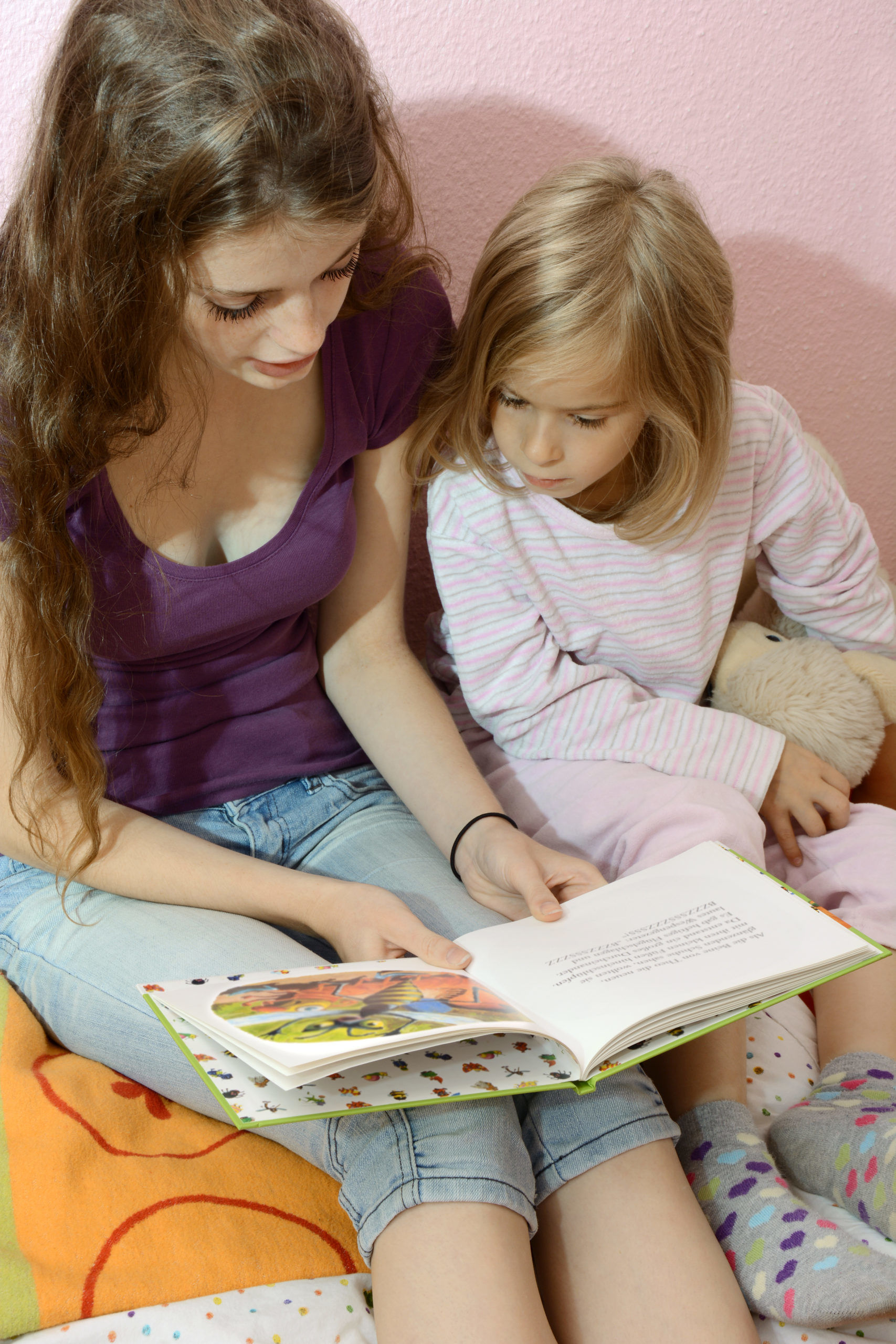 Read aloud and read children's books together