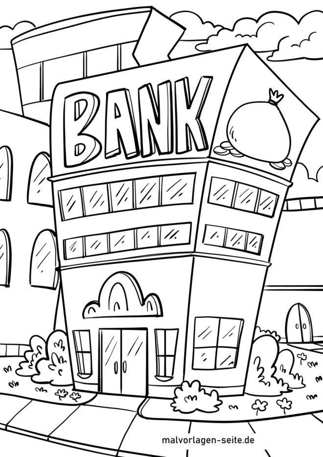 Coloriage banque