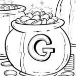 Coloring page gold coins Gold economy