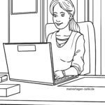 Coloring page home office jobs