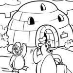 Igloo coloring pages building
