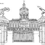 Coloring page Charlottenburg Palace | Tourist Attractions