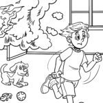 Coloring page behavior fire Prevention
