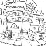 Coloring page insurance Economy money