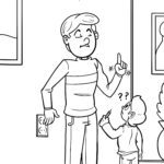Coloring page do not touch sockets