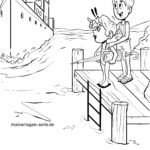Coloring page bathing rules