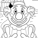 Coloring page clown face