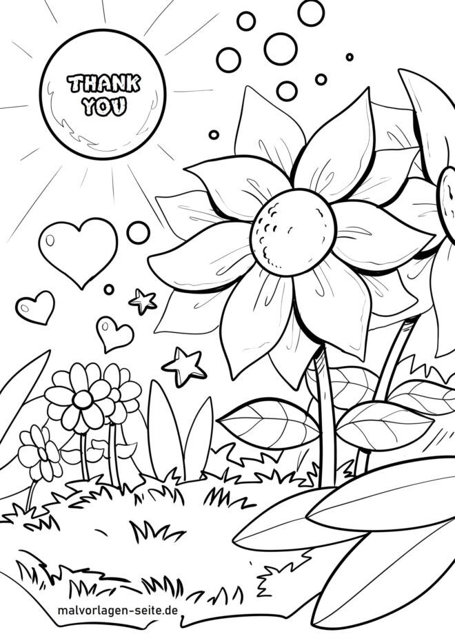 Coloring page Thank you