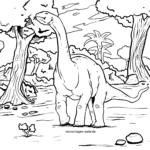 Väritys sivu dinosaurus Diplodocus