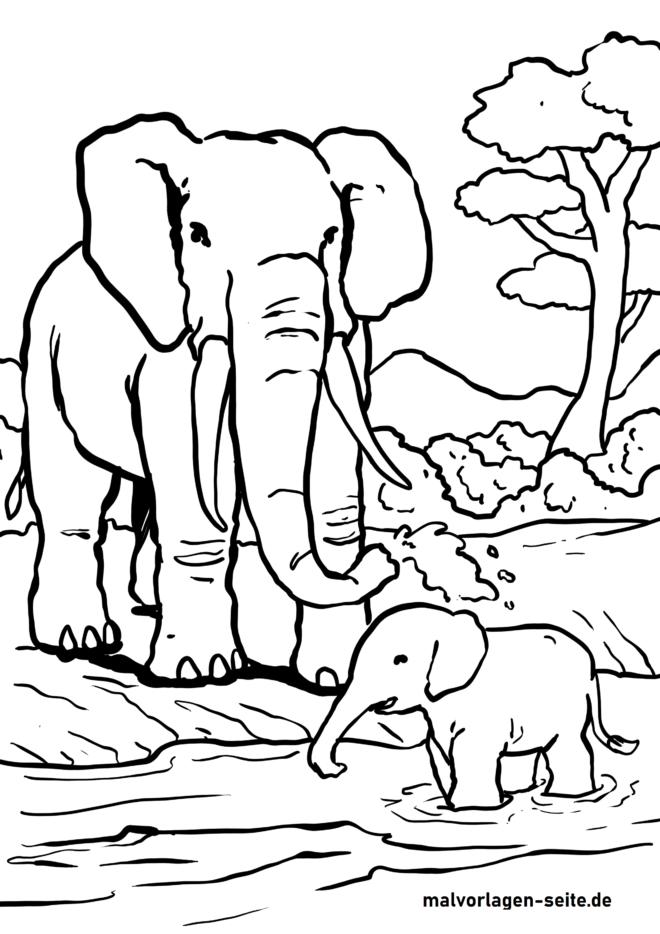 Bojanje stranice slon