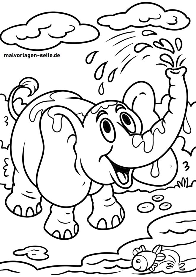 Malvorlage Elefant