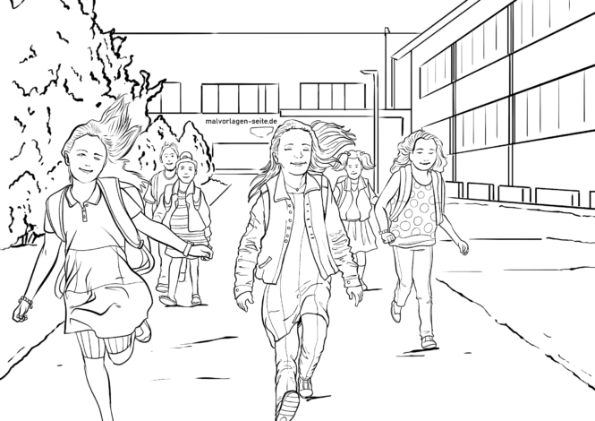 Coloring page Holidays at last for coloring