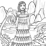 Coloring page woman South America Cultures