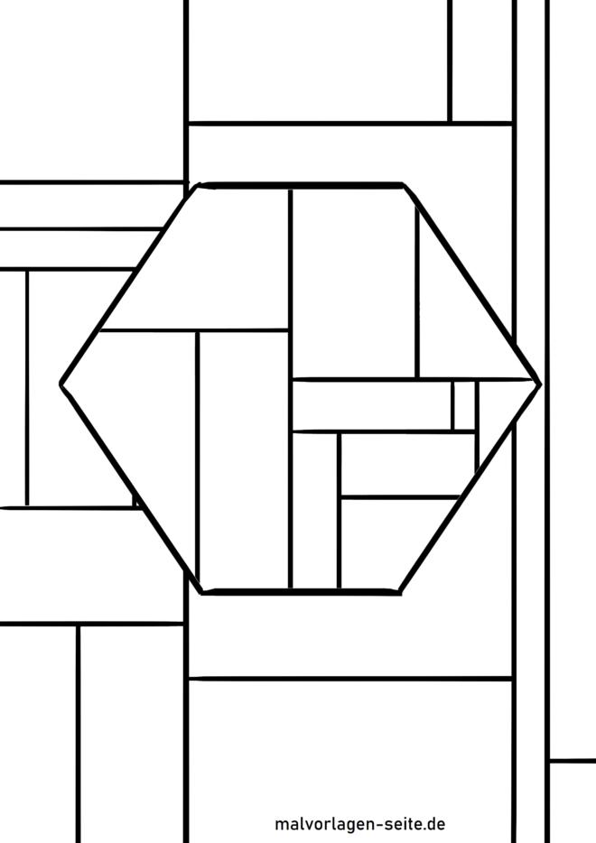 Malvorlage geometrische Formen